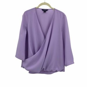 Lands End The Outfitters Faux Wrap Blouse Size 6P
